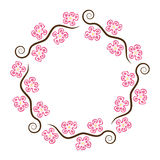 Abstract decoration pattern of cherry blossom, vector  Stock Photo