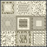 Abstract decoration in sepia color nuance. forms and fantasy royalty free illustration