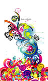 Abstract decoration vector Royalty Free Stock Photos