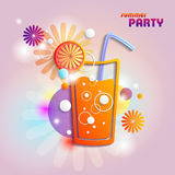 Abstract background with cocktail Stock Image