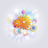Abstract background with flowers Stock Images