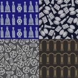 Graphical illustration of a set wit patterns 17. Abstract decorative background pattern-set kit. Vector illustration Stock Images