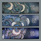 Abstract decorative backgrounds set. Royalty Free Stock Image