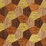 Abstract decorative blocks - seamless background - wood texture Royalty Free Stock Photos