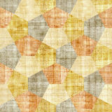 Abstract decorative blocks - seamless pattern - papyrus texture Royalty Free Stock Image