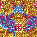 Abstract decorative Boho style seamless pattern Stock Illustration