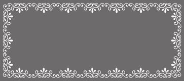 Abstract decorative border Stock Photo