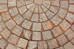 Abstract decorative brick patterned patio Stock Photos