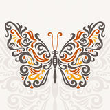 Abstract butterfly. Abstract decorative butterfly, vector illustration stock illustration
