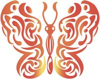 Abstract decorative butterfly - vector Royalty Free Stock Photos