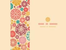 Abstract decorative circles horizontal seamless Royalty Free Stock Images