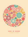 Abstract decorative circles oval decor pattern Stock Image