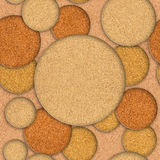Abstract decorative circles - seamless background - texture cork Stock Photos
