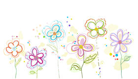 Abstract decorative colorful spring flower illustration. Colorful spring flower illustration background Royalty Free Stock Photo