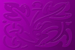 Abstract decorative design background. Purple pink decorative leaves design abstract background Stock Photography