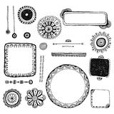 Abstract, decorative design elements hand drawn, doodles Stock Image