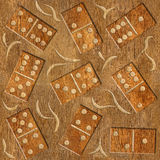 Abstract decorative dominoes - wood texture - seamless background Stock Images