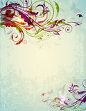 Abstract decorative floral background Royalty Free Stock Photo