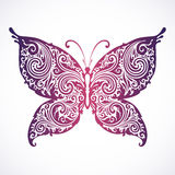 Abstract decorative floral butterfly Royalty Free Stock Images