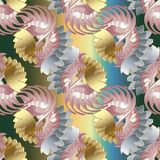 Abstract decorative floral seamless pattern. Baroque style ornam. Abstract decorative floral seamless pattern. Vector patterned elegance background. Baroque stock illustration
