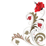 Abstract decorative flower element. On a white background Royalty Free Stock Images