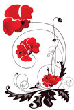 Abstract decorative flowers. Decorative vector image of the red flowers Royalty Free Stock Image