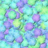 Abstract decorative fractal floral pattern - soft light fluffy flowers resemble the airy tulle or cotton clutches Royalty Free Stock Image