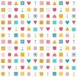Abstract decorative geometric build illusion. Seamless pattern. Royalty Free Stock Photo