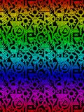 Abstract Decorative Geometric Rainbow Pattern. Modern style Stock Images
