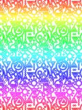 Abstract Decorative Geometric Rainbow Pattern. Modern style Stock Image
