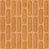 Abstract decorative grid - seamless background - texture cork Stock Photos