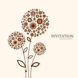 Decorative floral background. Dandelion. Abstract decorative invitation with flowers Stock Photo
