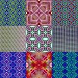 Abstract decorative kaleidoscopic pattern set. Abstract decorative historical kaleidoscopic pattern set Royalty Free Stock Images
