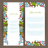 Abstract  decorative nature background. Banner set. Template frame design for card. Floral  elements. Stock Photo