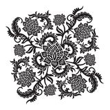 Abstract decorative ornament with flower, vector illustration Stock Images