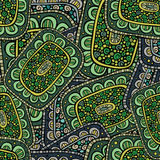 Abstract decorative ornamental seamless pattern. Green color Royalty Free Stock Images