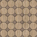 Abstract decorative paneling - seamless background - Blasted Oak Royalty Free Stock Photo
