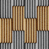 Abstract decorative paneling - seamless background - leather sur Stock Photo