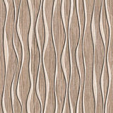 Abstract decorative paneling - seamless background - waves decor Stock Photography