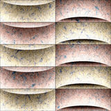 Abstract decorative paneling - seamless background - waves decor Stock Photo