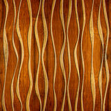 Abstract decorative paneling - seamless background - waves decor Royalty Free Stock Photos