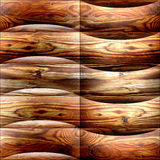 Abstract decorative paneling - seamless background - waves decor Stock Photos