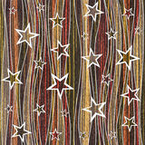 Abstract decorative paneling - Stars seamless pattern - Ebony Royalty Free Stock Photo