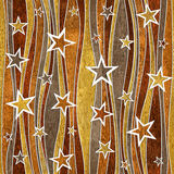 Abstract decorative paneling - Stars seamless pattern Stock Photography