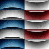 Abstract decorative paneling - waves decoration - USA Colors - l Stock Photos