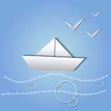 Paper ship Royalty Free Stock Image