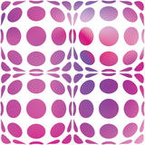 Abstract decorative polka dots and stains. Seamless pattern. Stock Image