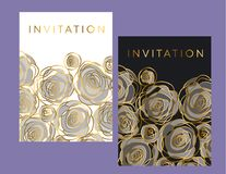Abstract decorative rose flowers design element. Royalty Free Stock Photos