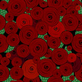 Abstract decorative roses pattern Stock Image