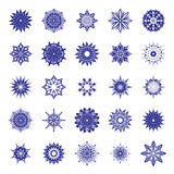 Abstract decorative snowflakes set. Stock Image